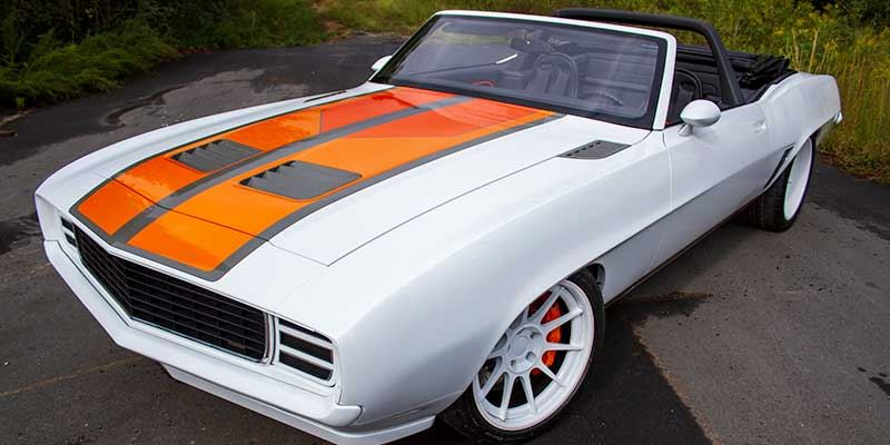 1969 Camaro with 3D Printed Hood Fender and Quarter Grill Vents [Source: Bowler Transmissions ]