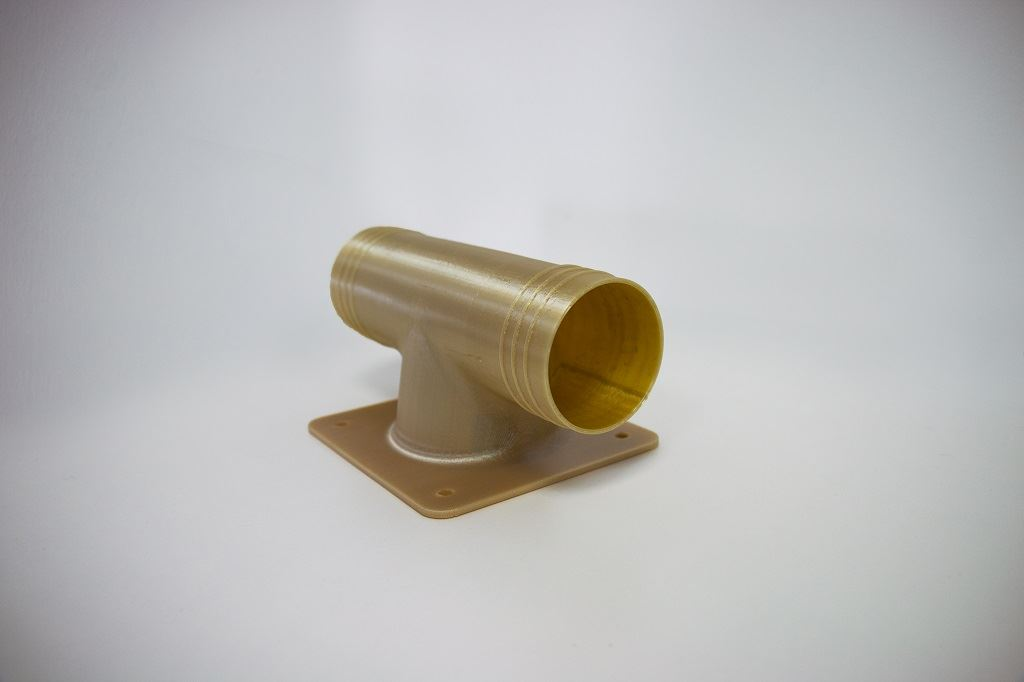Final part: 3D printed aircraft ducting [Image: Stratasys]
