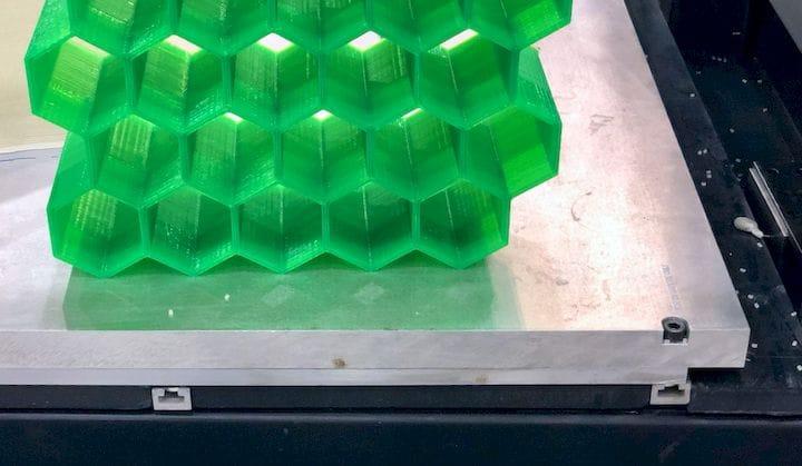 The huge 3D Platform WorkCenter 500 3D printer includes a massive aluminum build plate [Source: Fabbaloo]