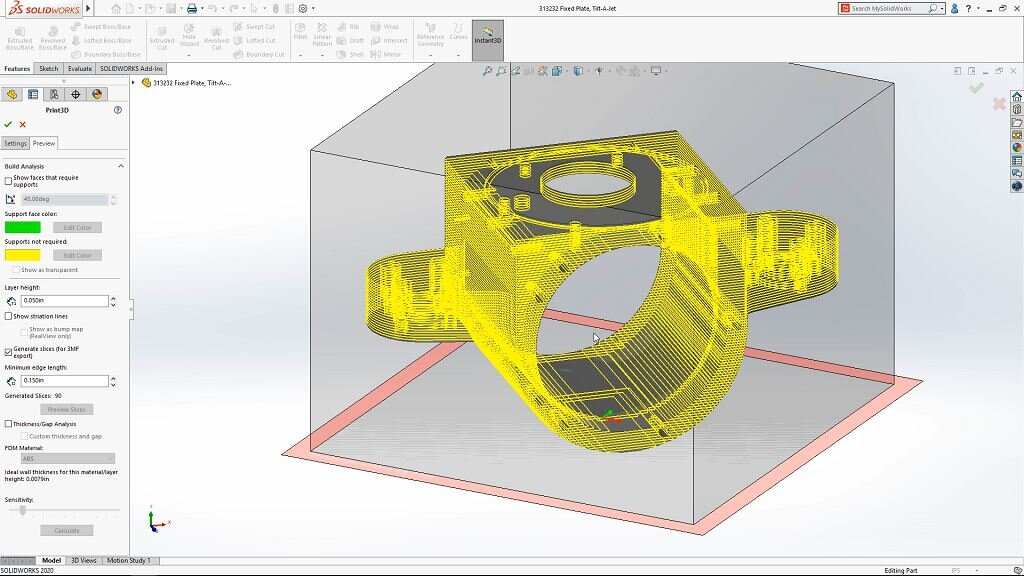 3D printing in SOLIDWORKS 2020 [Image: SOLIDWORKS]