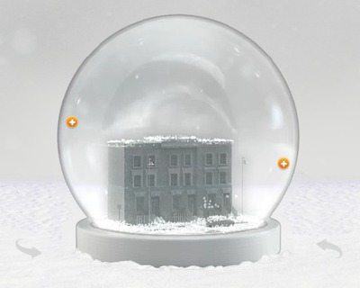 A Donation and Your House in a Snowglobe
