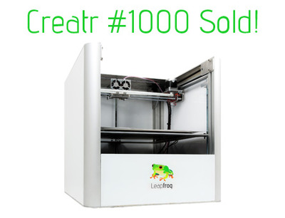 LeapFrog Sells 1000 – But How Many More 3D Printers Exist?