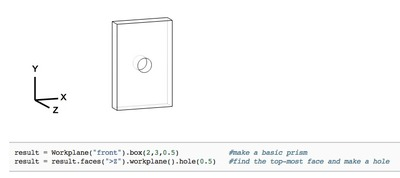 Parametric Parts' CadQuery