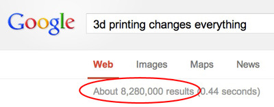 3D Printing Changes Everything