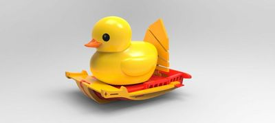 A Collectable Rubber Duck in Hong Kong