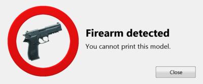 Preventing 3D Gun Printing?