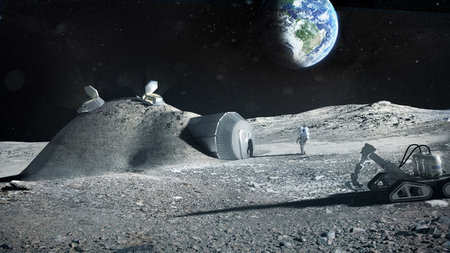 D-Shape Prototypes 3D Printed Lunar Bricks