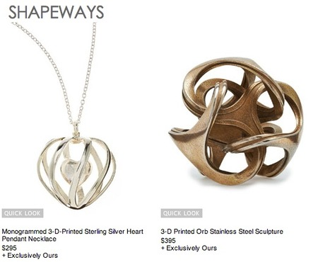 Shapeways Teams with Neiman Marcus