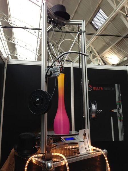 The Delta Tower 3D Printer
