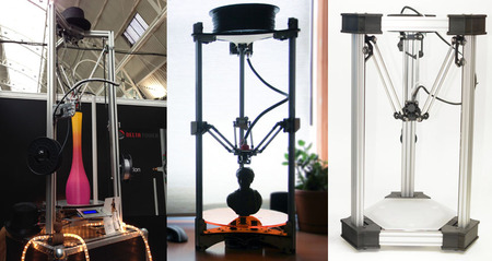 Three Delta 3D Printers: How To Tell Them Apart