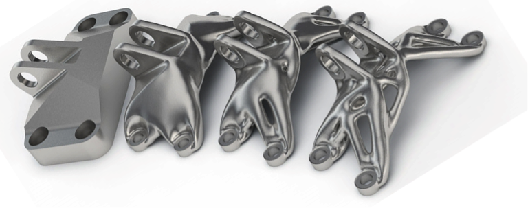 3D printed metal parts, from traditional to generative design