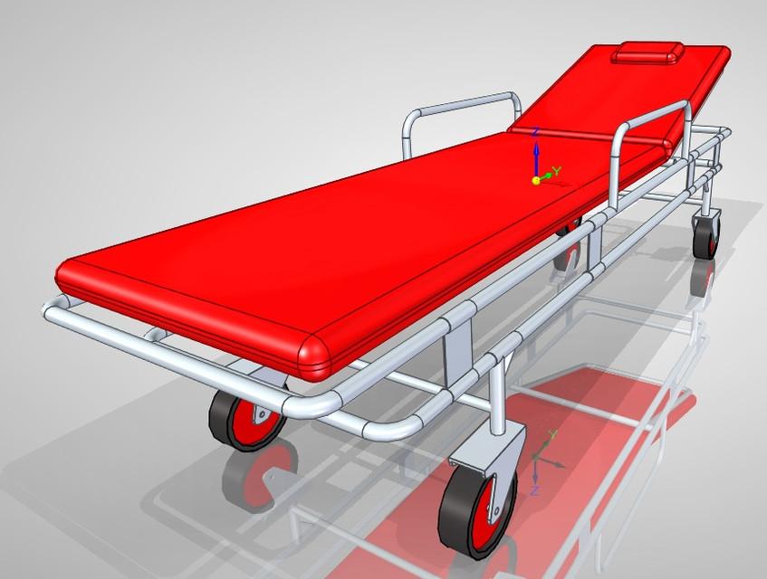 3D Printed Ambulance Stretcher [Source: Hamilton Triana via  GrabCAD ]