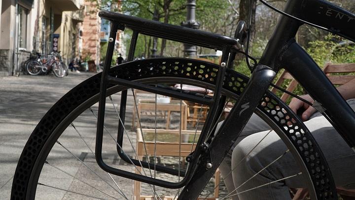 3D printed airless bicycle tire [Image: BigRep]