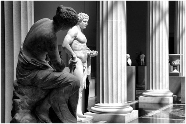 Classical sculptures made of stone [Source: Flickr]
