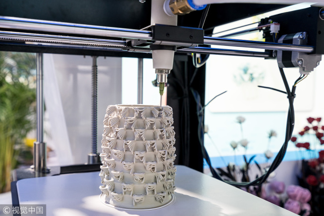 3D printed ceramic vase  [Source:    China Plus   ]