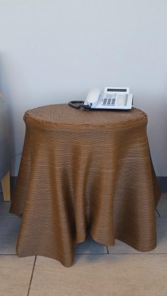 3D Printed table using 10% Bamboo fibers.  [Source:   Oak Ridge National Laboratory  ]