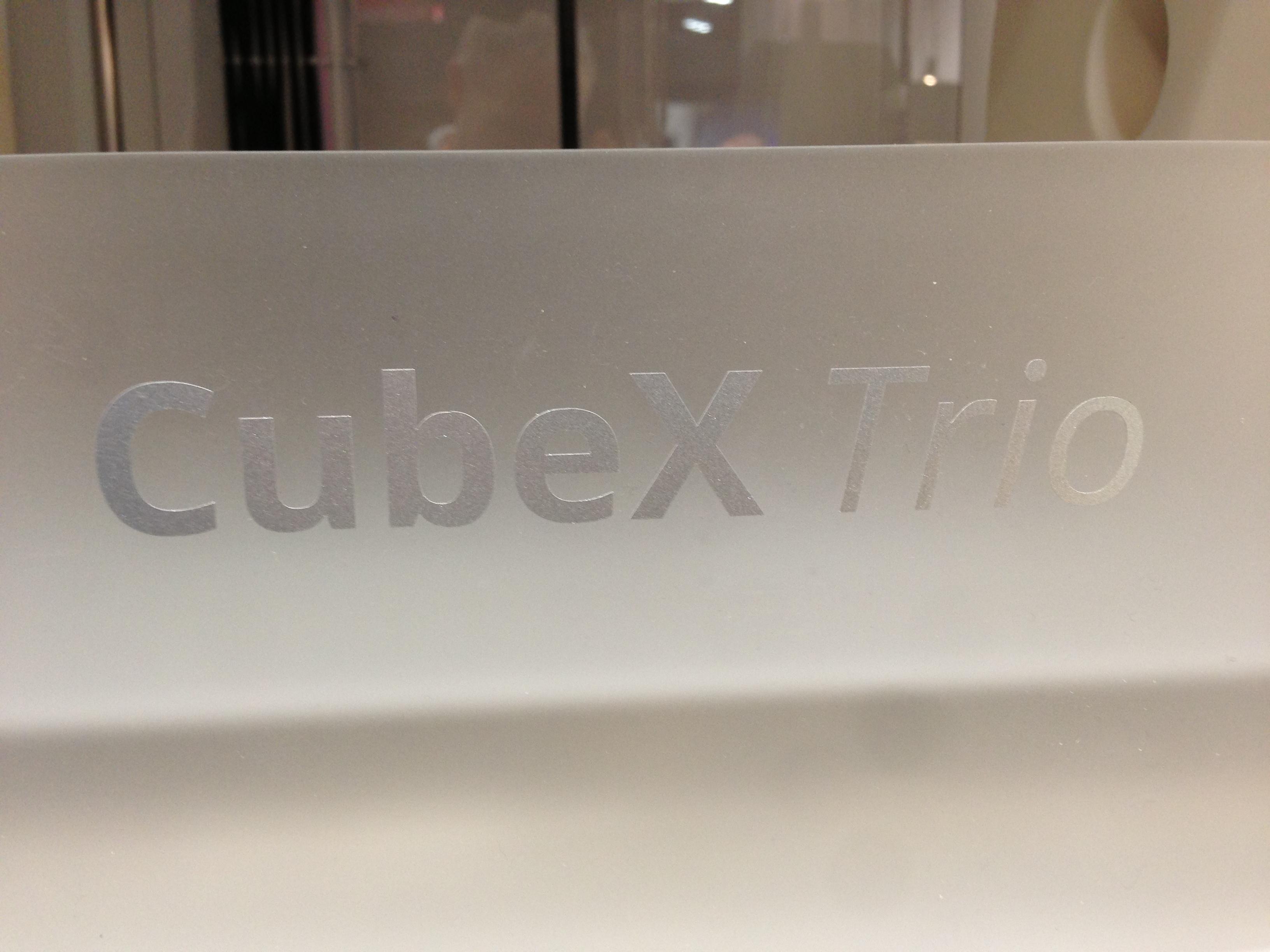 A Bit More on the CubeX 3D Printer
