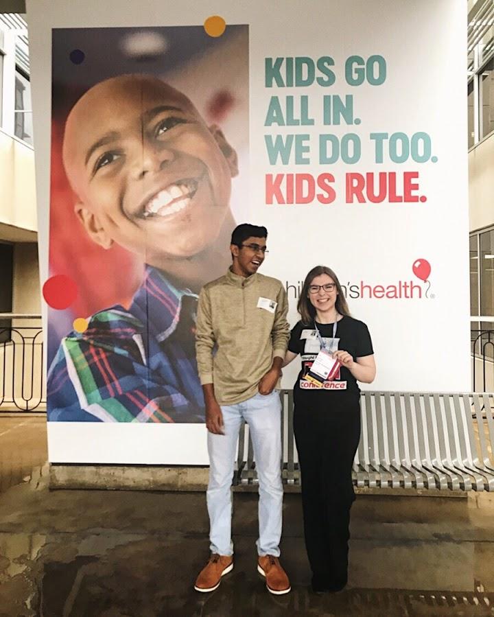 Danielle presenting The STEAM Connection books at the Dallas Children's Hospital [Image: Danielle Boyer]