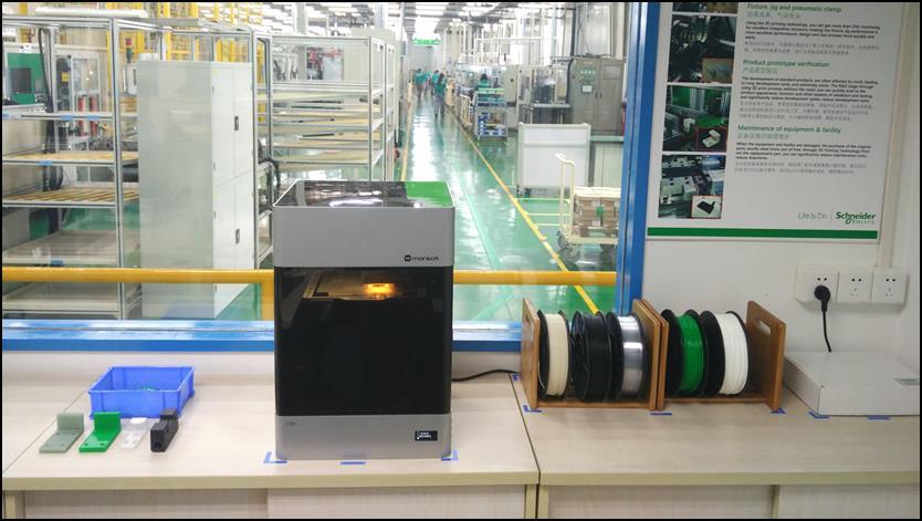Schneider Electric's Mankati E180 3D Printer [Source:  Mankati ]