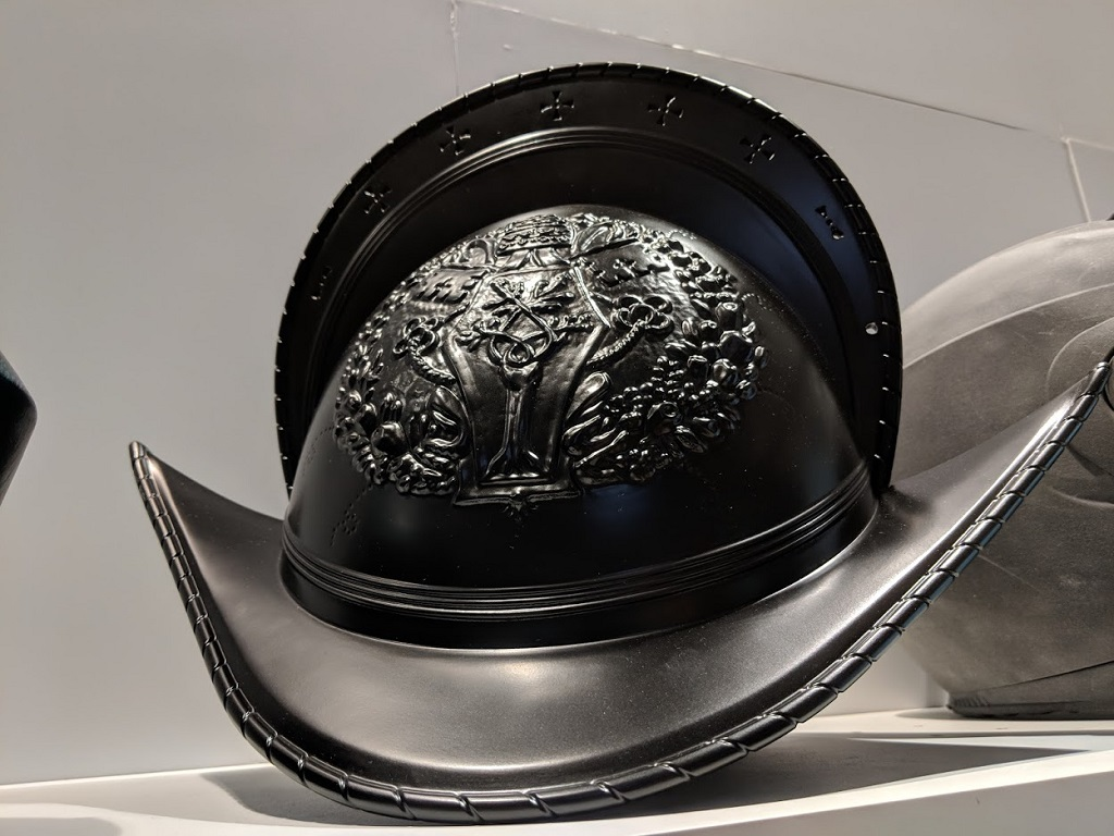 A Swiss Guard helmet on display with HP Inc. at IMTS 2018 [Image: Fabbaloo]