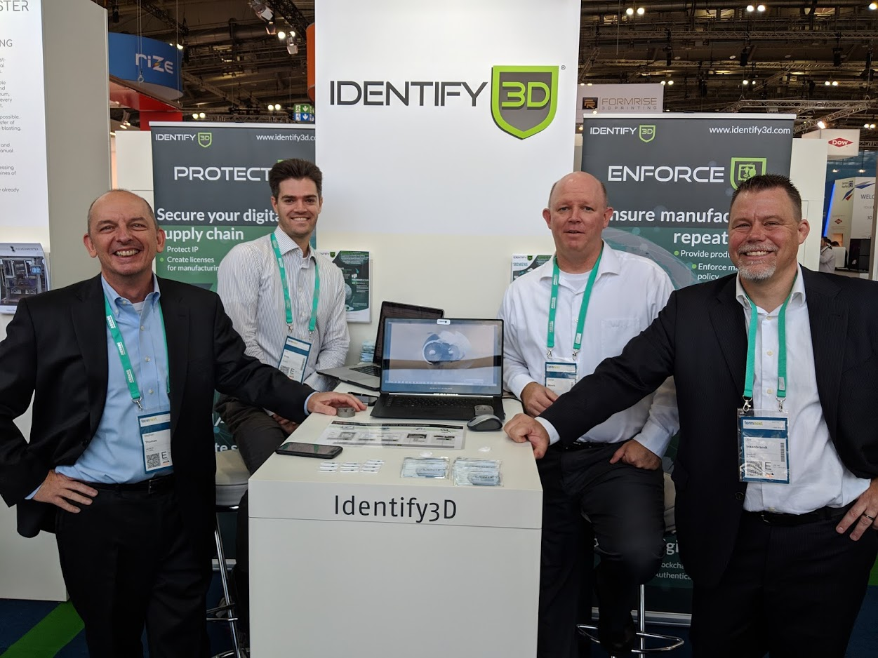The Identify3D team at formnext 2018 [Image: Fabbaloo]