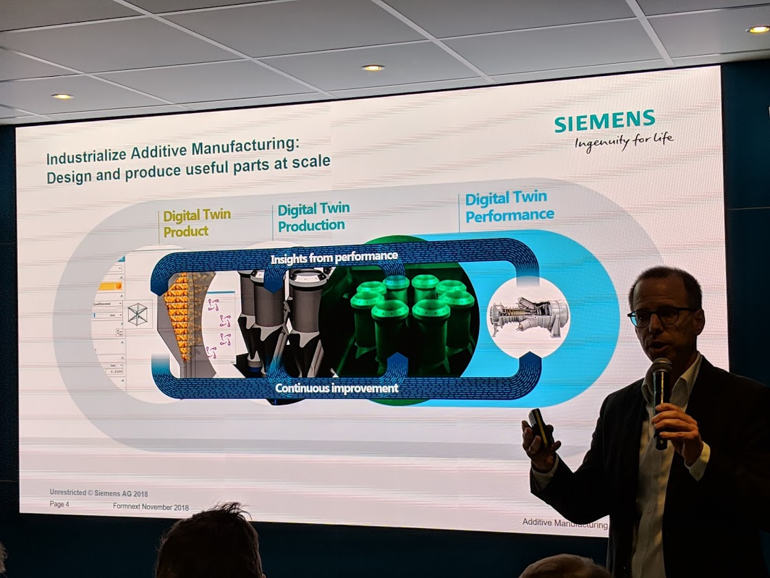Siemens execs focused on the digital twin in the journey toward industrializing additive manufacturing [Image: Fabbaloo]