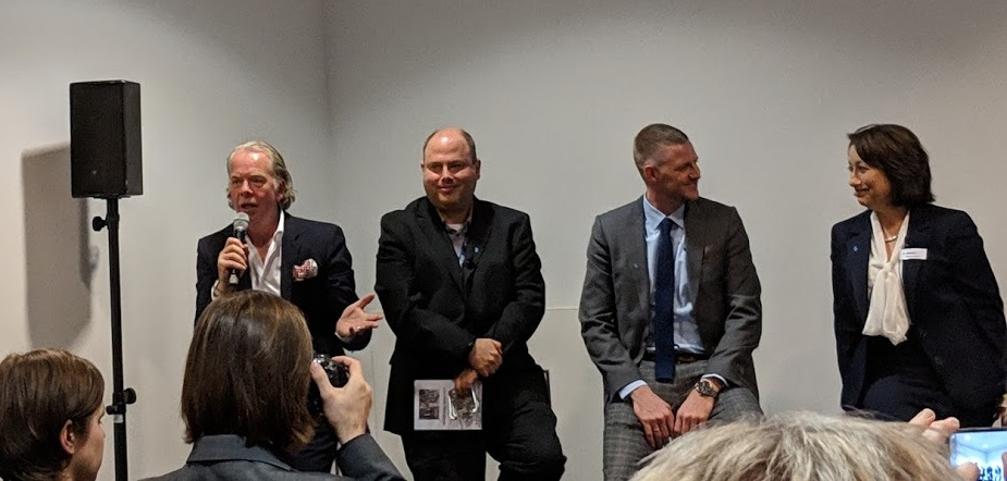 L-R: Andy Middleton, Rafie Grinvald, Andreas Langfeld, and Zehavit Reisin share during a Q&A [Image: Fabbaloo]