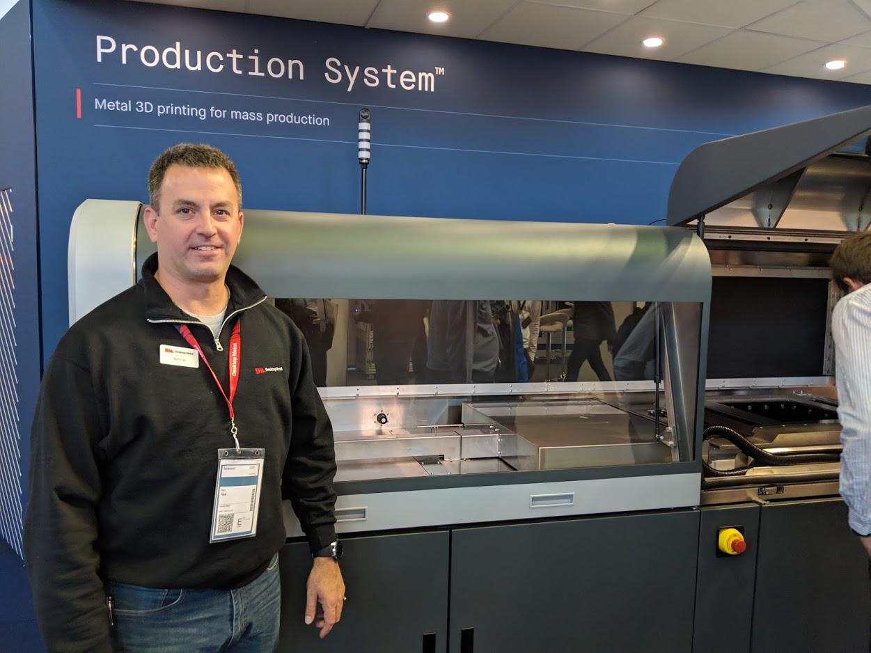 Ben Fisk, Senior Product Manager, Desktop Metal, at formnext 2018 [Image: Fabbaloo]