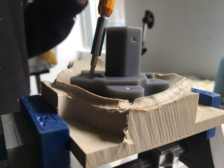 Milling the final PEEK implant [Image: Autodesk]