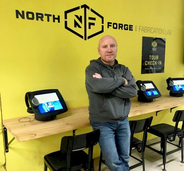 Jeff Stobbe, Maintenance Manager, North Forge Fabrication Lab [Image: Fabbaloo]