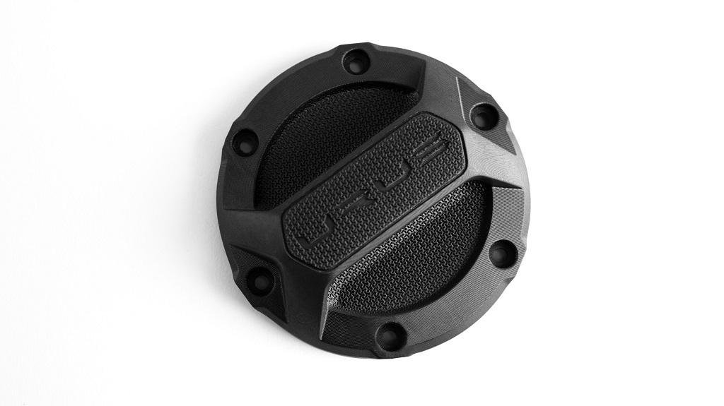 Lamborghini Urus Fuel Cover Cap digitally manufactured in EPX 82 epoxy resin [Image: Carbon]