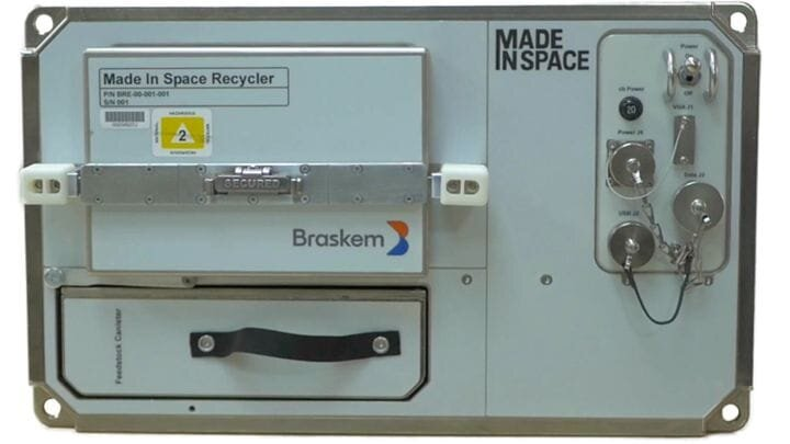 Made in Space's recycling unit [Source: SolidSmack]
