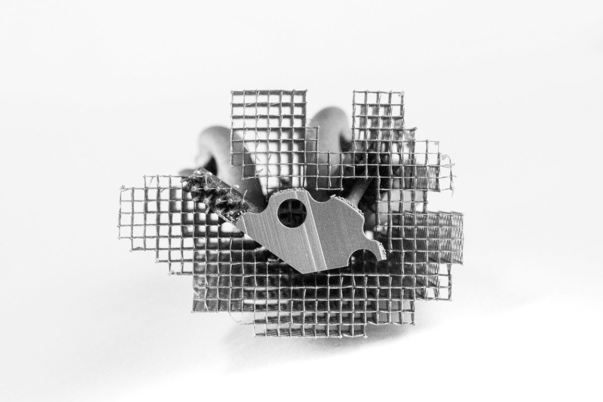 Stainless Steel part 3D printed with e-Stage support structure [Image: Materialise]