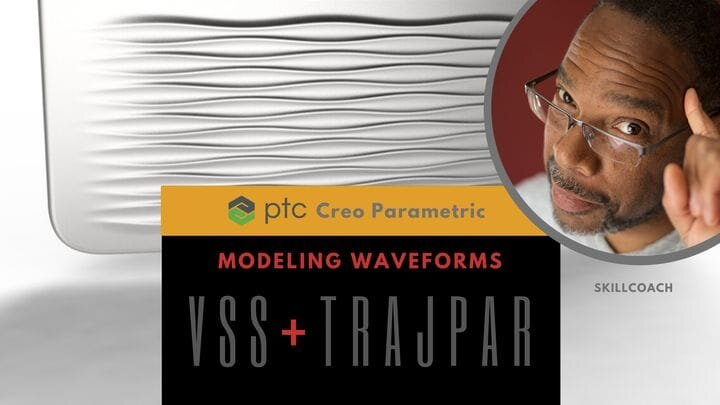 Model Wave Forms using Creo Parametric Variable Section Sweep [Source: SolidSmack]