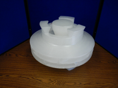 """This double suction impeller featuring a 15"""" diameter was the subject of a study conducted by Tech Cast and 3D Systems to better understand and quantify the advantages of their process when compared to the standard iterative procedure. [Source:  3D Systems ]"""