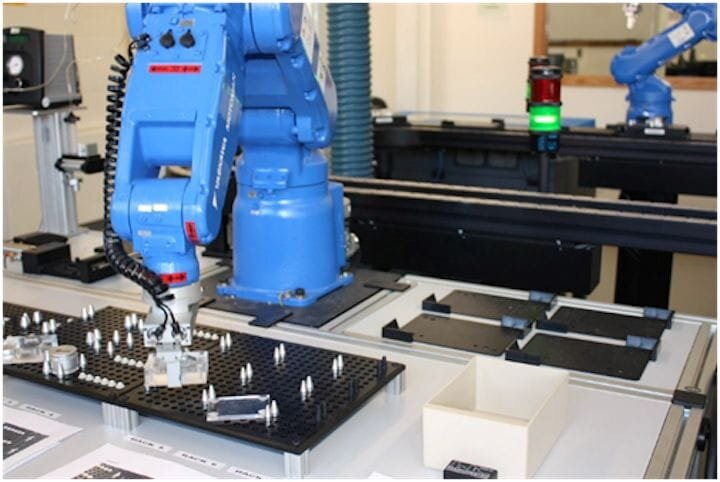 A robotic pick-and-place system for electronics manufacturing [Source: Pixabay]