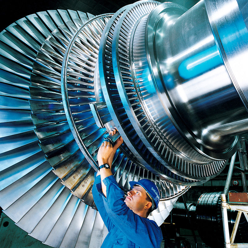Siemens turbine [Image via Wikipedia ]