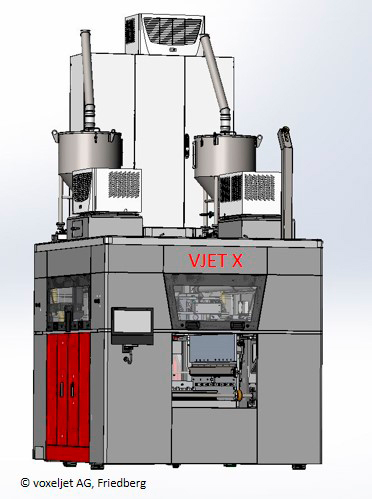 """A rendering of a VJET X 3D printer for """"additive mass manufacturing"""" [Image: voxeljet]"""