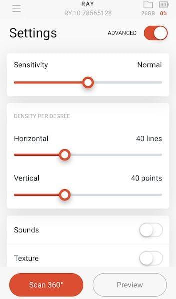 View of the Artec 3D mobile 3D scanning app [Source: Artec 3D]