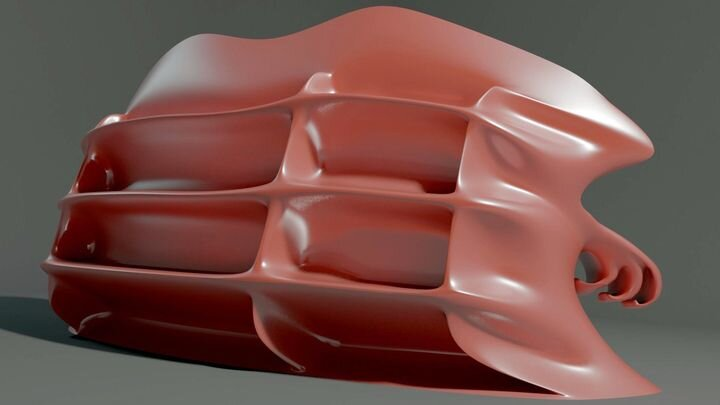 The bionic sofa 3D model [Source: CGTrader]