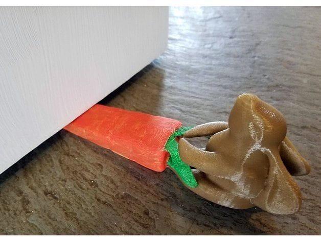 , Design of the Week: Bunny Rabbit Pulling Carrot Doorstop