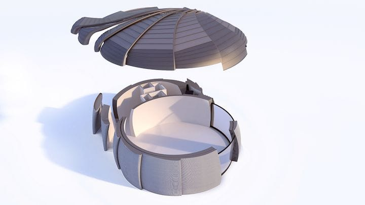 CyBe's concrete 3D printer advanced building design [Source: CyBe]