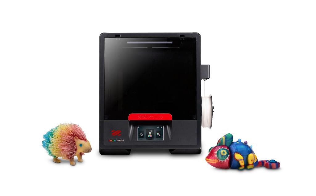 The da Vinci Color mini 3D printer with full-color prints [Image: XYZprinting]