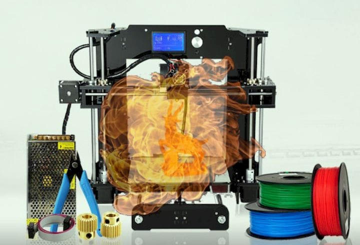 3D printers can literally catch on fire