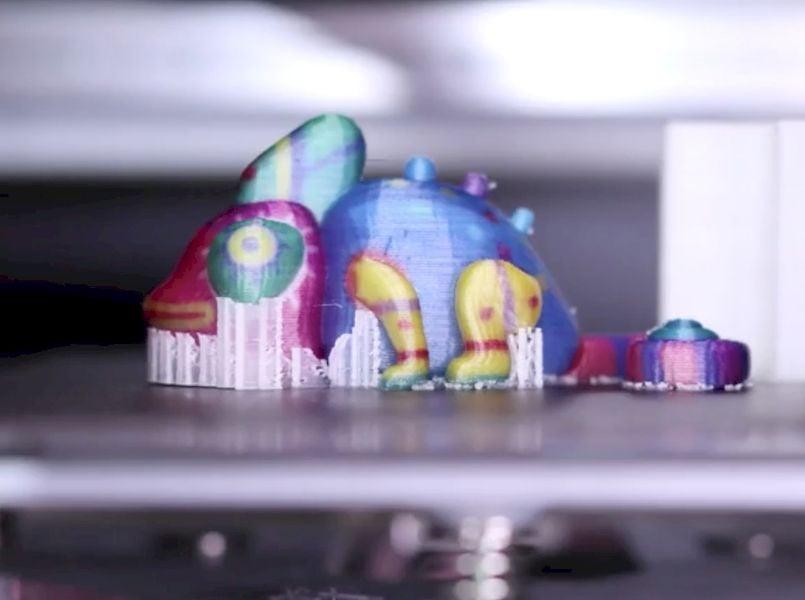 A full color dragon 3D print made by the new da Vinci Color mini [Source: XYZprinting]