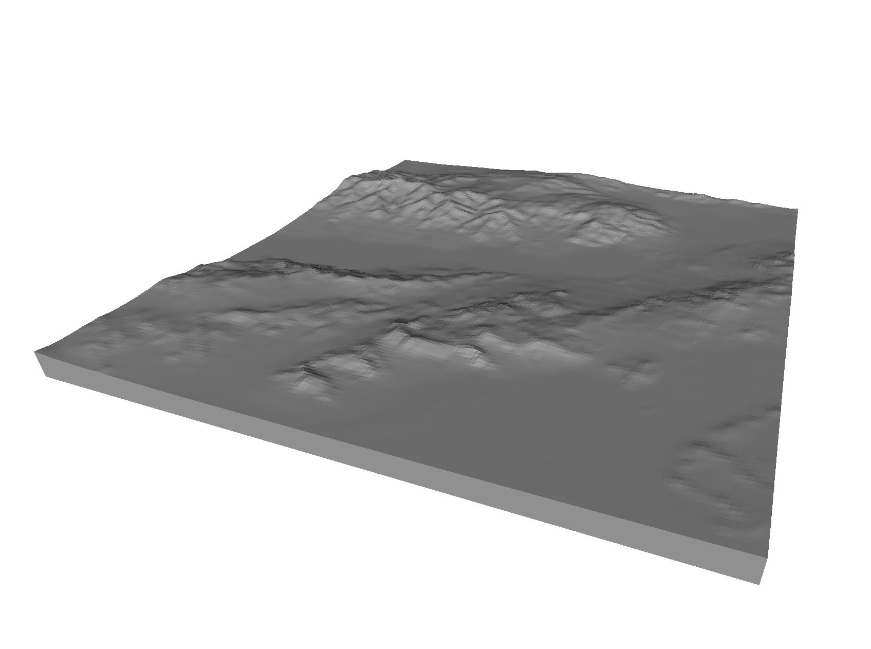 Easy 3D Printable Landscapes: TouchTerrain