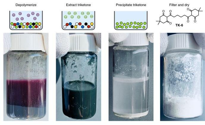 Depolymerized plastics [Source: Peter Christensen et al./Berkeley Lab]
