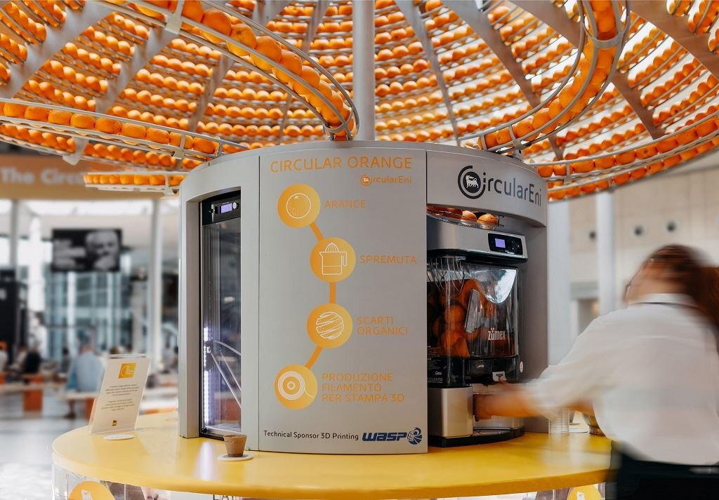 , 3D Printed Cups Demonstrate An OJ Circular Economy