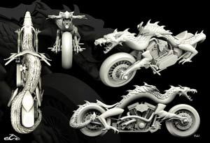 Orange County Choppers 3D Prints A Dragoncycle
