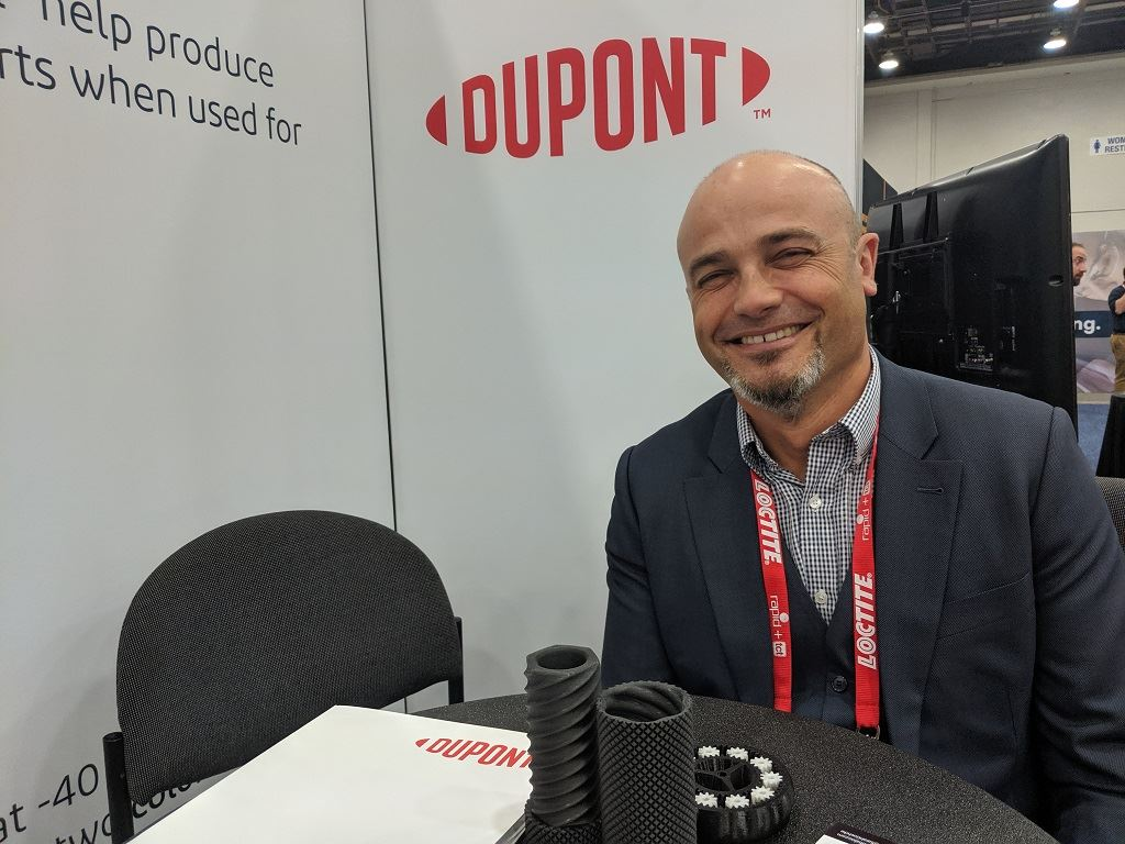 Christophe Paulo shares details on DuPont's 3D printing materials and strategies [Image: Fabbaloo]